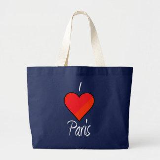 I Love Paris Large Tote Bag