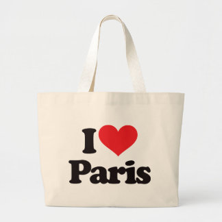 I Love Paris Large Tote Bag