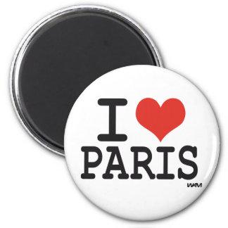 I love Paris 6 Cm Round Magnet