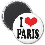 I Love Paris Refrigerator Magnets