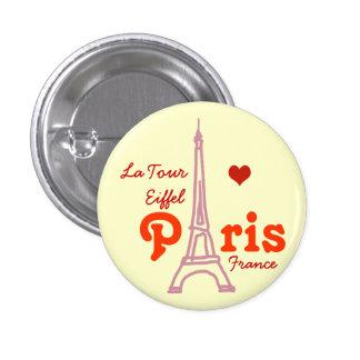I love Paris . romantic 3 Cm Round Badge