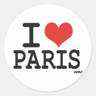 I love Paris Round Sticker