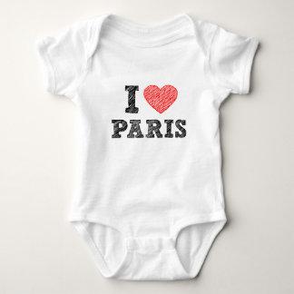 I Love Paris Sketch Baby Bodysuit