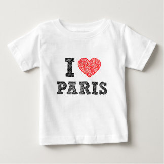 I Love Paris Sketch Baby T-Shirt