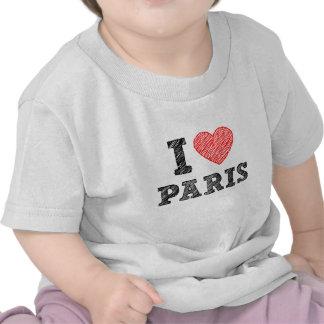 I Love Paris Sketch T Shirts