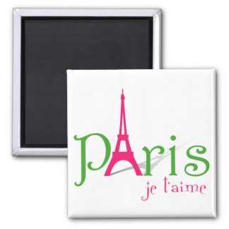 I love Paris Square Magnet