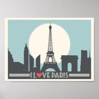 I love Paris Vintage poster