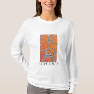 I Love Paris Vintage Travel ladies hoody T-shirt