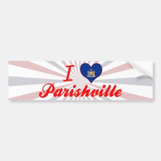 I Love Parishville, New York Bumper Sticker