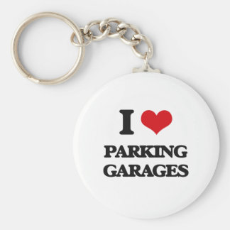 I Love Parking Garages Keychains