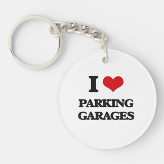 I Love Parking Garages Acrylic Keychain