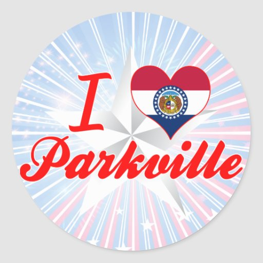 I Love Parkville, Missouri Round Stickers