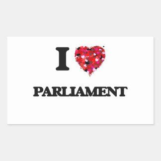 I Love Parliament Rectangular Sticker