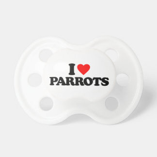 I LOVE PARROTS DUMMY