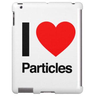 i love particles iPad case