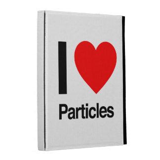 i love particles iPad folio cover