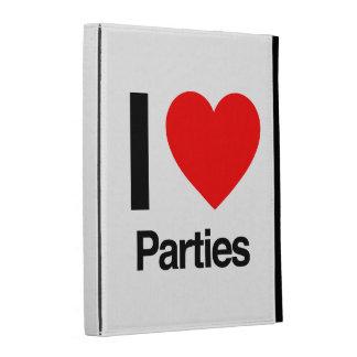 i love parties iPad folio case