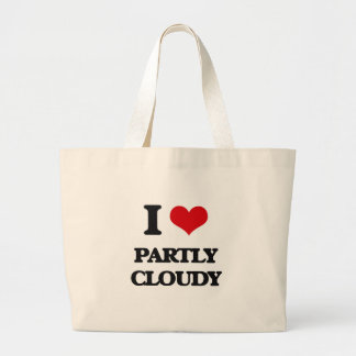 I love Partly Cloudy Tote Bag
