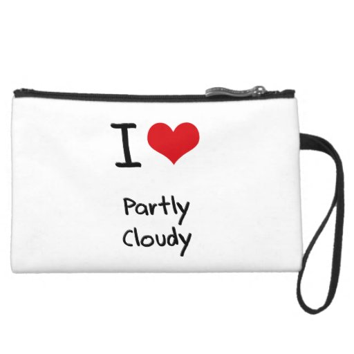 I love Partly Cloudy Wristlet Clutches