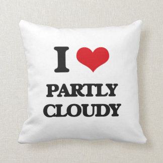 I love Partly Cloudy Throw Pillows