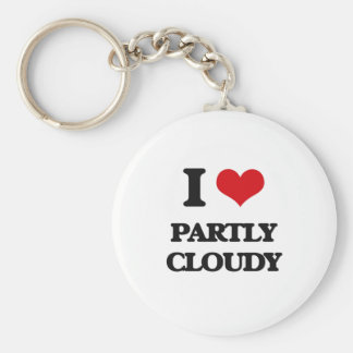 I love Partly Cloudy Keychain