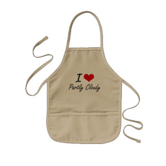I love Partly Cloudy Kids Apron