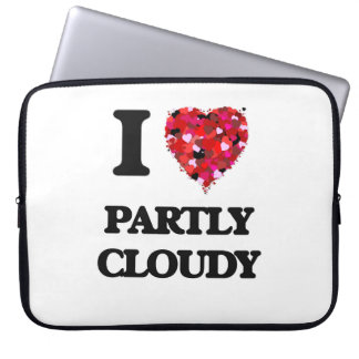 I love Partly Cloudy Computer Sleeve