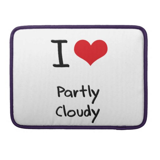I love Partly Cloudy MacBook Pro Sleeves
