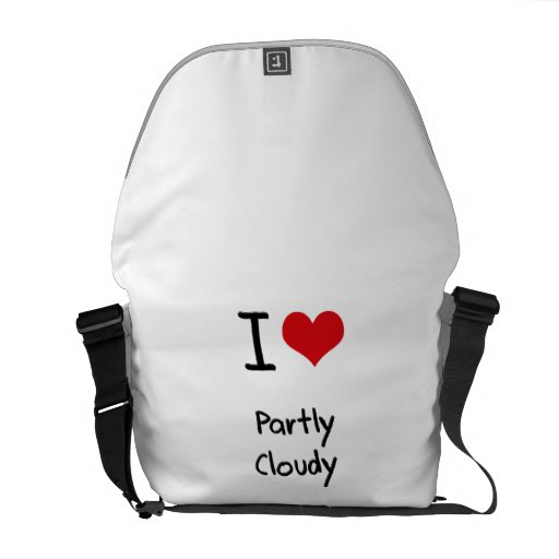 I love Partly Cloudy Messenger Bags