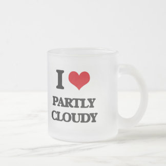 I love Partly Cloudy 10 Oz Frosted Glass Coffee Mug