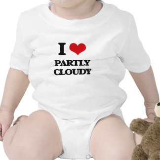 I love Partly Cloudy Baby Bodysuits