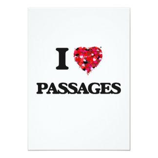 I Love Passages 13 Cm X 18 Cm Invitation Card