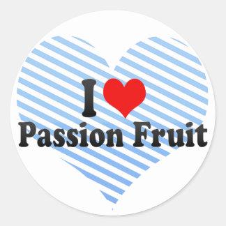 I Love Passion Fruit Round Sticker