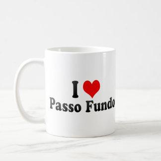 I Love Passo Fundo, Brazil Basic White Mug
