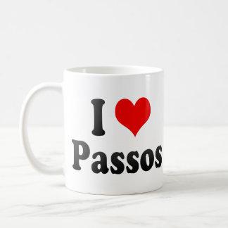 I Love Passos, Brazil. Eu Amo O Passos, Brazil Basic White Mug