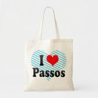 I Love Passos, Brazil. Eu Amo O Passos, Brazil Budget Tote Bag