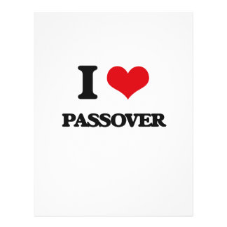 I Love Passover Flyer