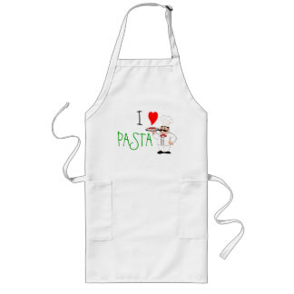 I Love Pasta Chef Long Apron