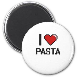 I Love Pasta 2 Inch Round Magnet