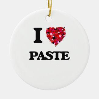 I Love Paste Round Ceramic Decoration