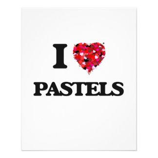 I Love Pastels 11.5 Cm X 14 Cm Flyer