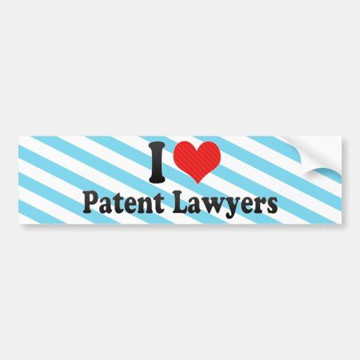 I Love Patent Lawyers Bumper Sticker