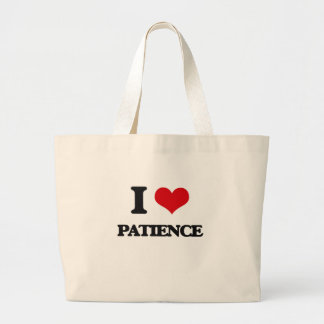 I Love Patience Tote Bags