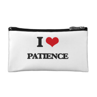 I Love Patience Cosmetic Bags