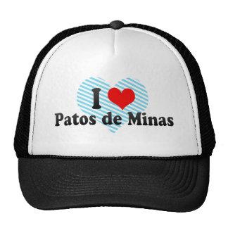 I Love Patos de Minas Brazil Mesh Hats