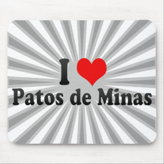 I Love Patos de Minas Brazil Mousepad