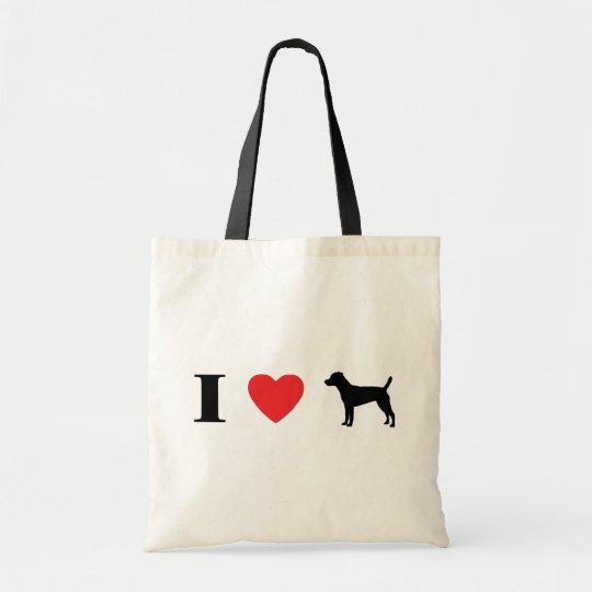 I Love Patterdale Terriers Bag
