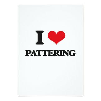 I Love Pattering 13 Cm X 18 Cm Invitation Card