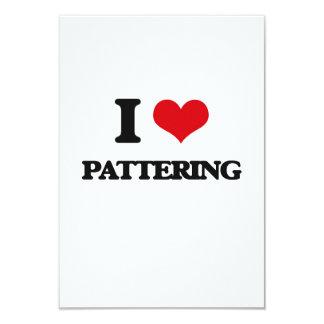 I Love Pattering 9 Cm X 13 Cm Invitation Card