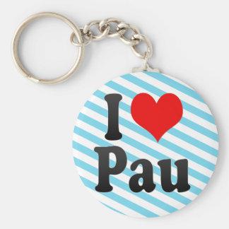 I Love Pau, France Basic Round Button Key Ring